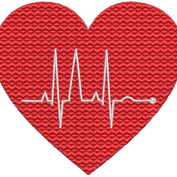 cœur electro motif de broderie machine gratuit Motif de broderie machine d'un électrocardiogramme dans un cœur rouge cadre 10 x 10 Formats des fichiers PES,CSD,EXP,HUS,SHV,VIP,XXX,DST,PCS,JEF,VP3,SEW,EMB… Téléchargement immédiat