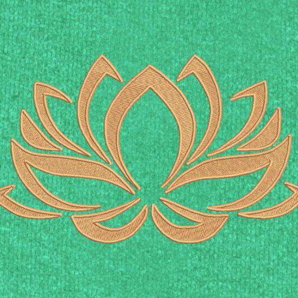 fleur de lotus 2 Motif de broderie machine cadre 10 x 10 / 30 x 20 Formats des fichiers PES,CSD,EXP,HUS,SHV,VIP,XXX,DST,PCS,JEF,VP3,SEW,EMB… Téléchargement immédiat