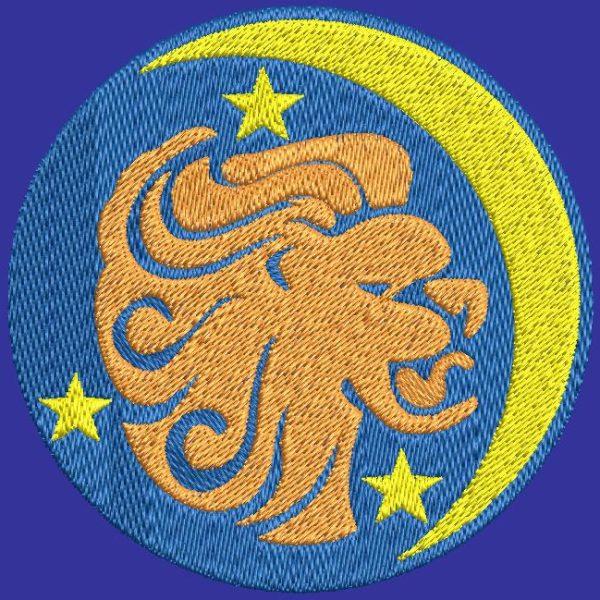 Diseño de bordado de máquina de signo de zodiaco león