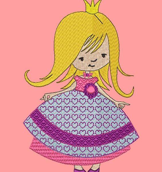 bella piccola principessa Telaio per ricamo a macchina 10 x 10/20 x 20 Formati file PES, CSD, EXP, HUS, SHV, VIP, XXX, DST, PCS, JEF, VP3, SEW, EMB ... Download immediato