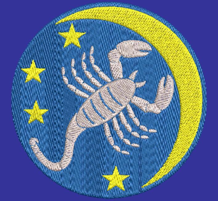 天蝎座星座机刺绣设计