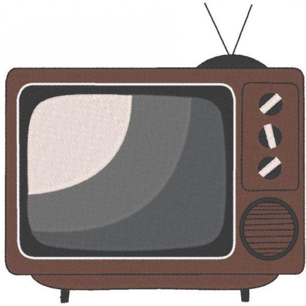 老式电视或电视机绣设计框架13 x 18 PES,CSD,EXP,HUS,SHV,VIP,XXX,DST,PCS,JEF,VP3,SEW,EMB文件格式...即时下载
