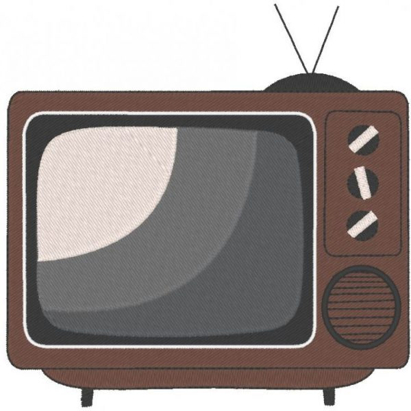 televisión vintage o televisión Diseño de bordado a máquina 13 x 18 cuadros PES, CSD, EXP, HUS, SHV, VIP, XXX, DST, PCS, JEF, VP3, SEW, EMB formatos de archivo ... Descarga instantánea