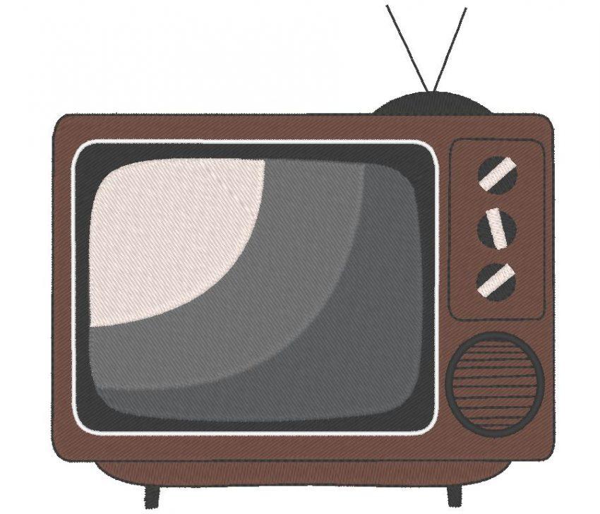 téléviseur ou télévision vintage Motif de broderie machine cadre 13 x 18 Formats des fichiers PES,CSD,EXP,HUS,SHV,VIP,XXX,DST,PCS,JEF,VP3,SEW,EMB… Téléchargement immédiat