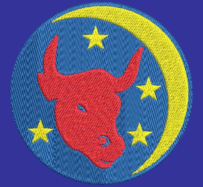 taurus zodiac sign machine embroidery design