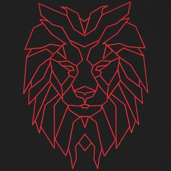 狮子头几何编机绣花设计