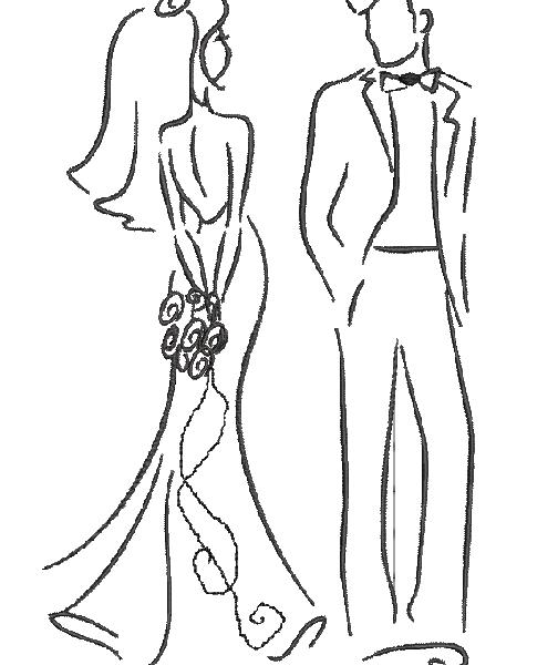 تصميم آلة التطريز: زوجين من المتزوجين حديثا