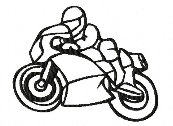 Motif broderie machine: Moto, sport mécanique