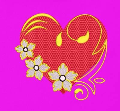 花的心蔓藤花纹