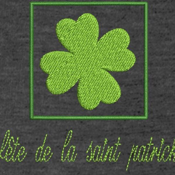 saint patrick's day free embroidery design. Instant download machine embroidery Saint Patrick's Day or St Patrick's Day. 10x10 frame. File formats PES, CSD, EXP, HUS, SHV, VIP, XXX, DST, PCS, JEF, VP3, EMB ... Immediate download after your payment.