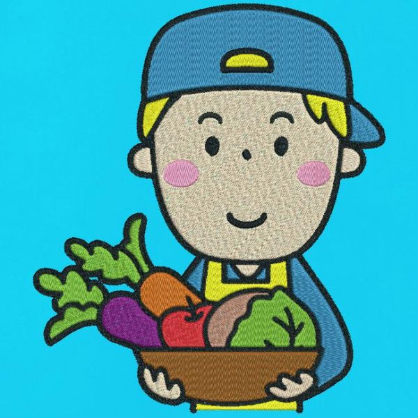 my little grocer. Machine embroidery design my little grocer who represents a seller with his basket of fruits and vegetables. he also wears a nice apron and a cap. Work and trade collection. frame 10 x 10/13 x 18/20 x 30. File formats PES, CSD, EXP, HUS, SHV, VIP, XXX, DST, PCS, JEF, VP3, EMB ... Instant download after payment.