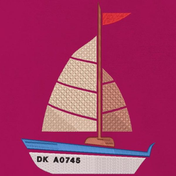 "my little sailboat. Machine embroidery design my little sailboat, pleasure boat with its registration which starts with ""DK"" which is the code for boats coming from Dunkirk. frame 10 x 10 / 13x 18/20 x 20/30 x 20. File formats PES, CSD, EXP, HUS, SHV, VIP, XXX, DST, PCS, JEF, VP3, EMB ... Immediate download after your payment."