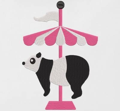 panda circus. Motif de broderie machine panda circus qui représente un joli panda sur un carrousel. cadre 10 x 10 /13x 18/30 x 20 . Formats des fichiers PES,CSD,EXP,HUS,SHV,VIP,XXX,DST,PCS,JEF,VP3,EMB… Téléchargement immédiat après votre paiement.