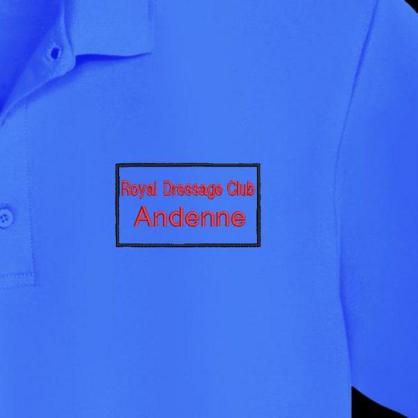 logotipo del bordado de la máquina de escaneo del club de doma real