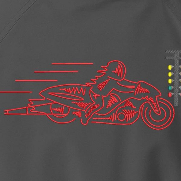 motorcycle dragster custom machine embroidery design