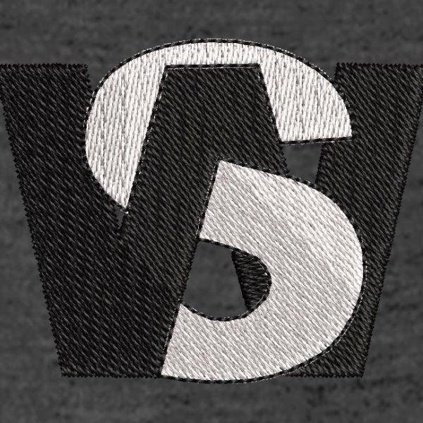 Scanning machine embroidery design.