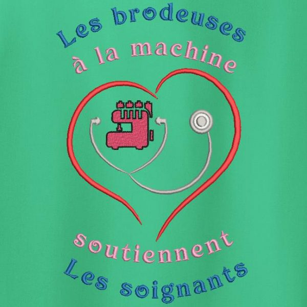 logo aide soignants broderie machine