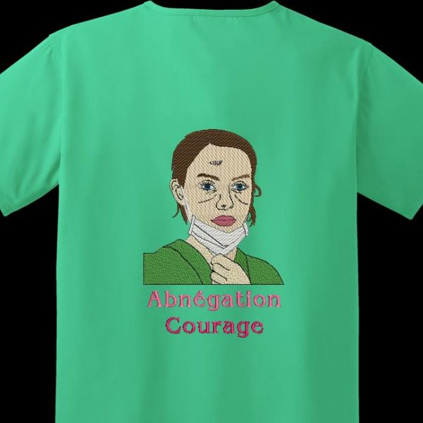 Instant download machine embroidery Courage and selflessness that represents a caregiver