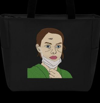 Machine embroidery design of a nursing assistant.