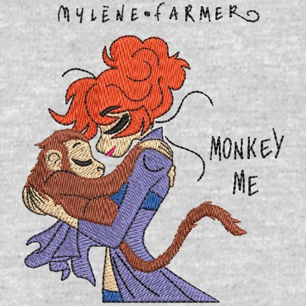 digitization machine embroidery design customer monkey me .Mylène farmer.