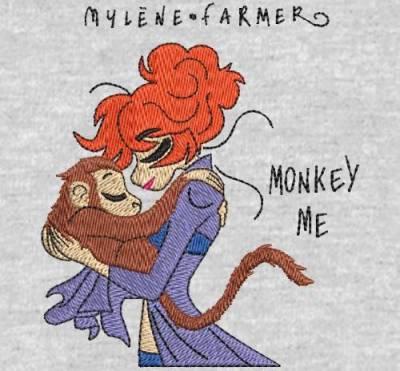 digitization machine embroidery design customer monkey me .Mylène farmer.