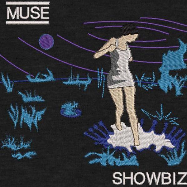 digitalización musa bordado y portada del álbum