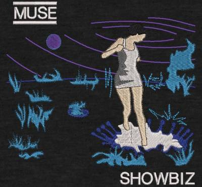 digitization muse embroidery and album cover