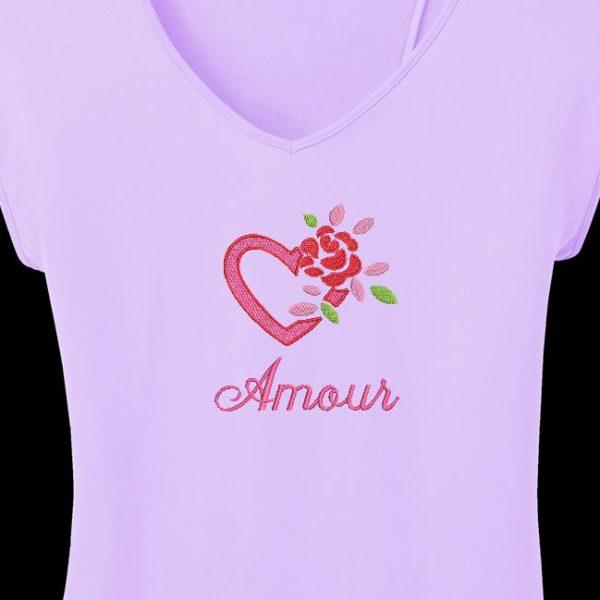 cœur et rose amour