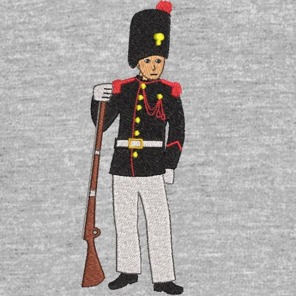 motif de broderie machine soldat grenadier de l'empire