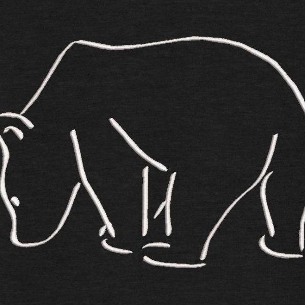 silueta del oso polar
