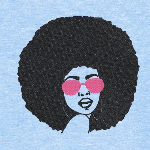 vintage retrô de mulher afro 1