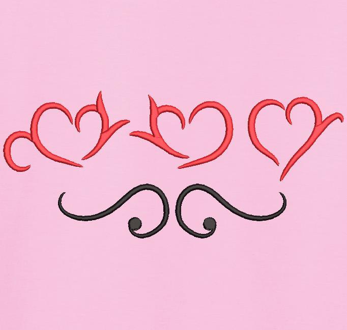 trio cœurs arabesques 2