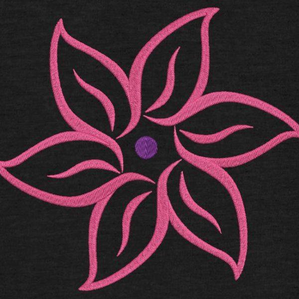 flor en arabescos