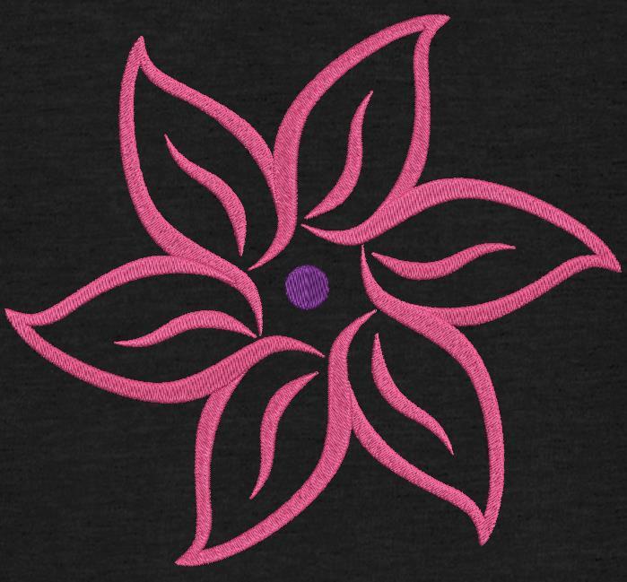 fleur en arabesques