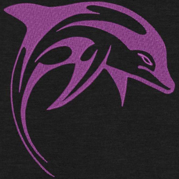 silhouette de dauphin tribal