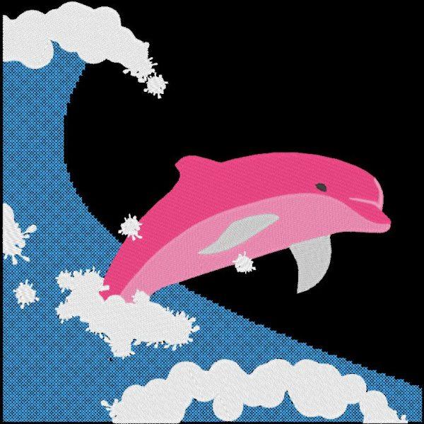 dauphin dans la vague