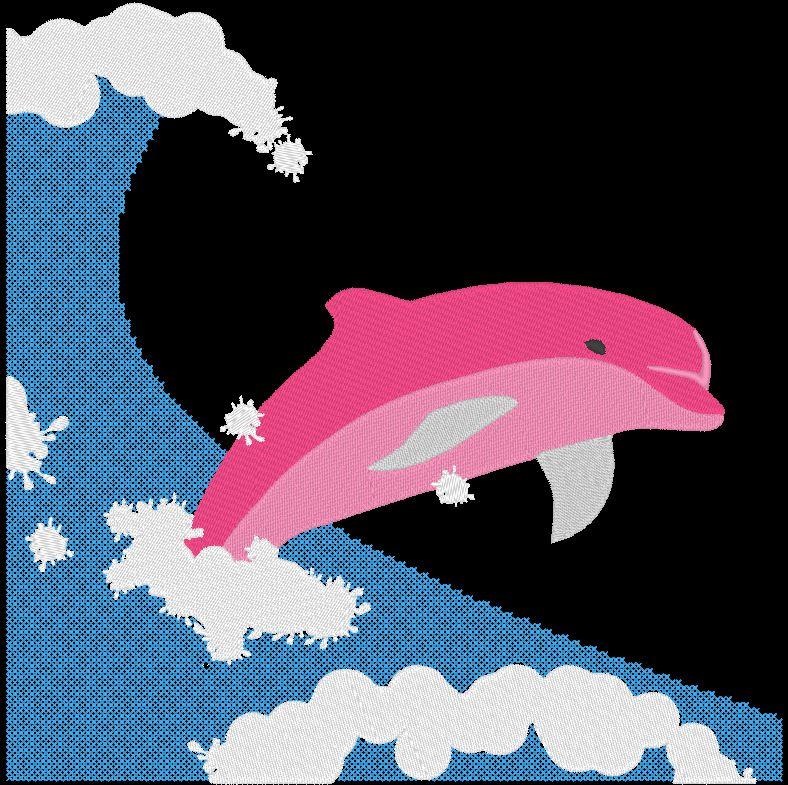delfín en la ola