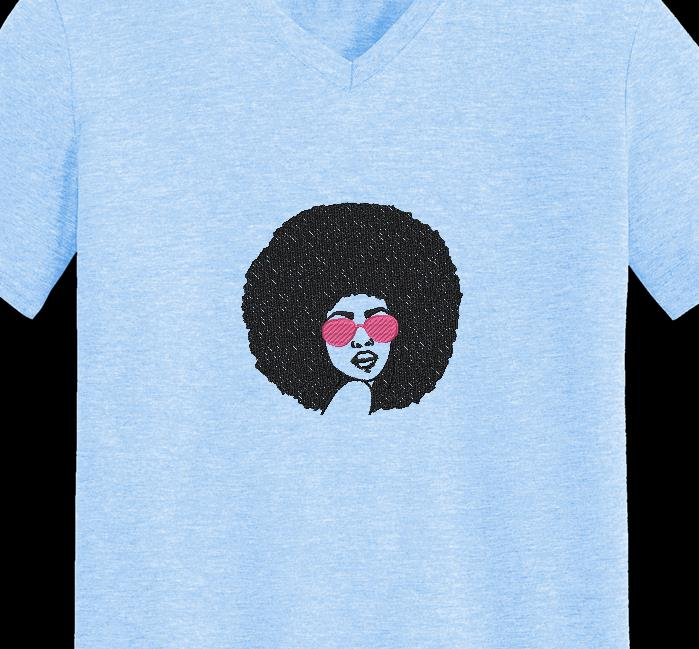 mujer afro retro vintage 1