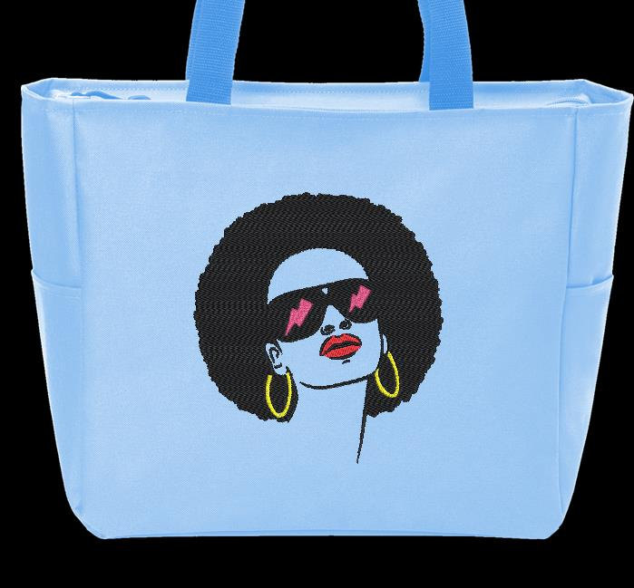 mujer afro retro vintage 6