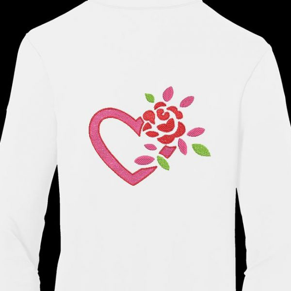 cœur et rose