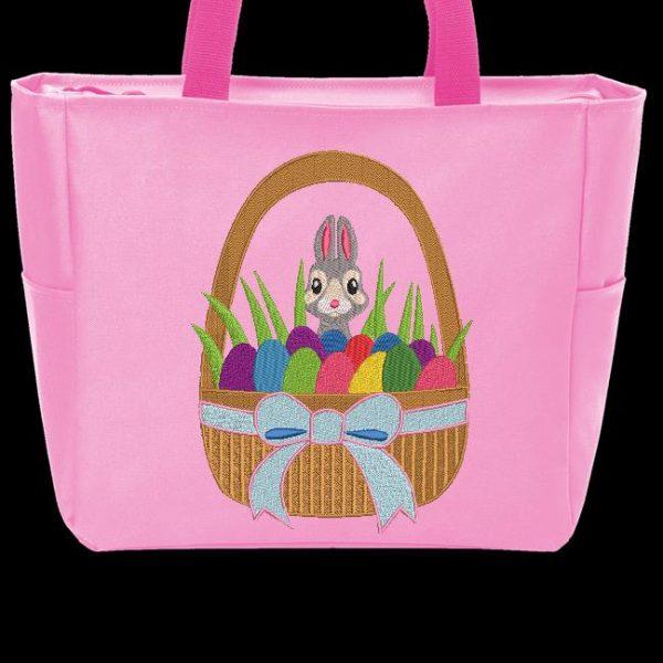 Canasta de Pascua y conejito