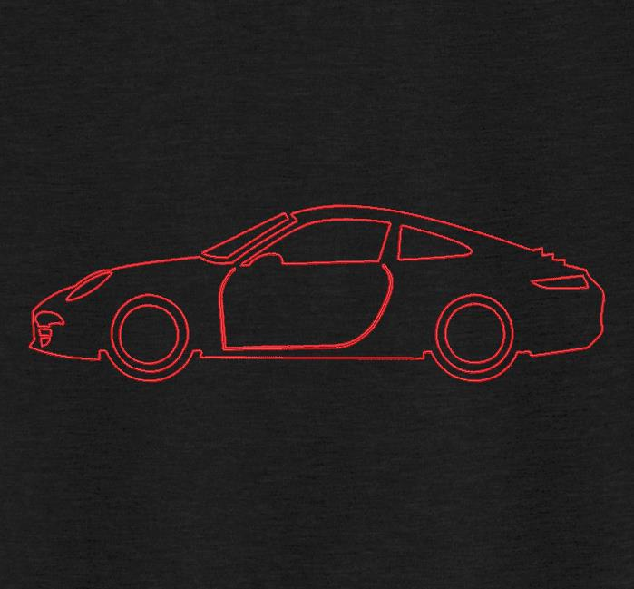 voiture de sport redwork