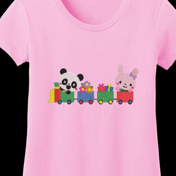 panda et son petit train