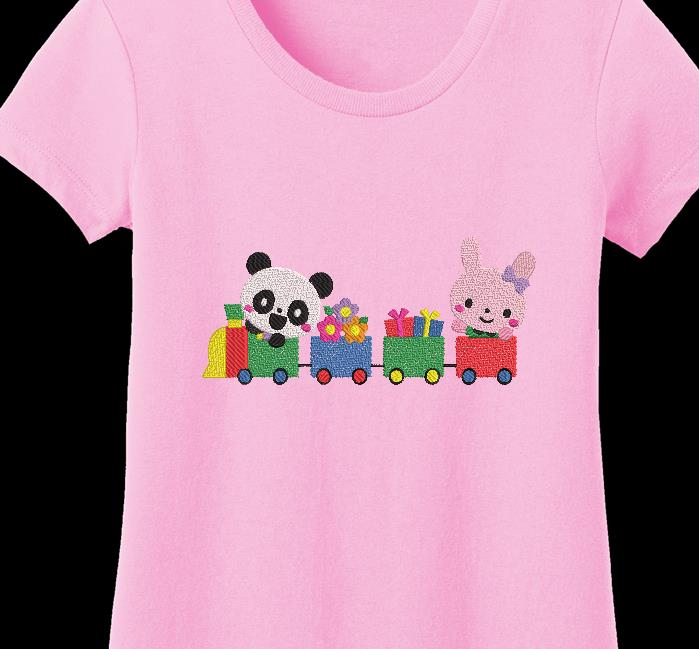 Panda e il suo trenino