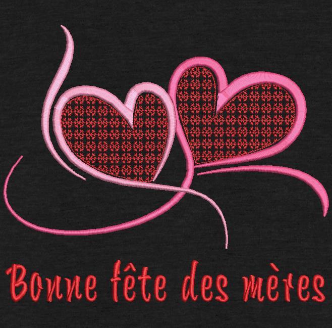 feliz dia das mães arabesco corações