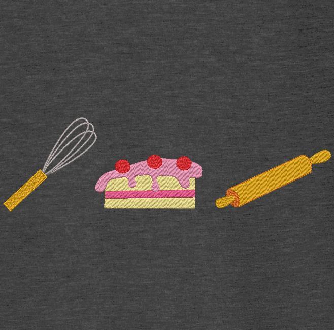 batedor, rolo, pastelaria