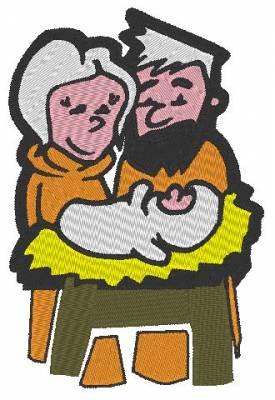 Le petit Jésus Marie et Joseph