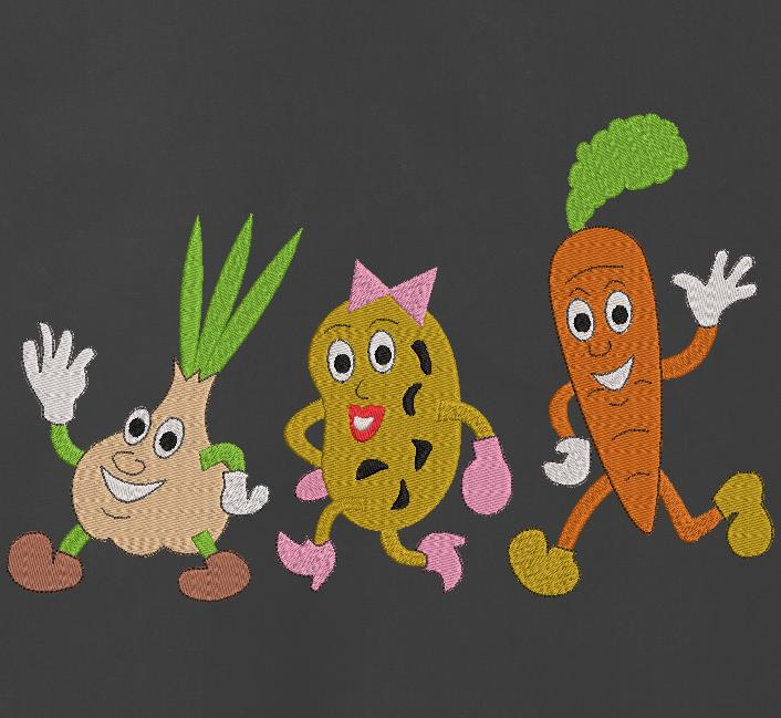 tira de verduras