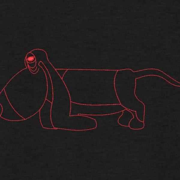 redwork de basset hound