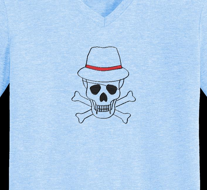 calavera con sombrero 2